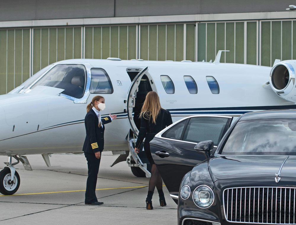 Business travel by private jet in times of Corona